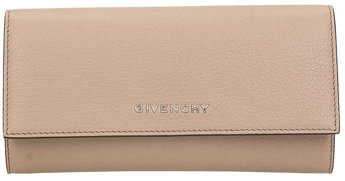 Givenchy Wallet In Taupe Leather