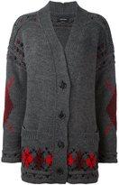 Isabel Marant 'Geena' oversized argyle cardigan