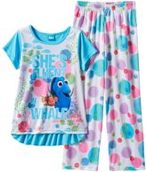 "Disney Pixar Finding Dory Girls 4-8 ""She's Fluent In Whale"" Pajama Set"