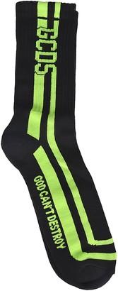 GCDS Logo Stripe Detail Socks