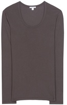 James Perse Extra Long Cotton-blend Jersey T-shirt