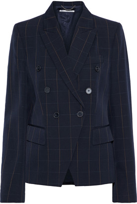 Stella McCartney Robin Double-breasted Checked Wool-twill Blazer