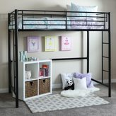 Walker Edison Black Metal Twin Loft Bunk Bed