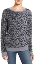 Current/Elliott Women's The Greta Leopard Print Sweatshirt
