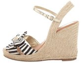 Kate Spade Bow Espadrille Wedges