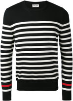 Saint Laurent striped knitted top - men - Wool - S