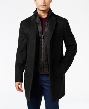 Michael Kors Men's Water-Resistant Slim-Fit Overcoat with Zip-Out Liner