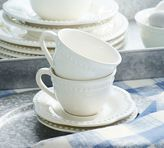 Pottery Barn Emma Cup and Saucer, Set of 4