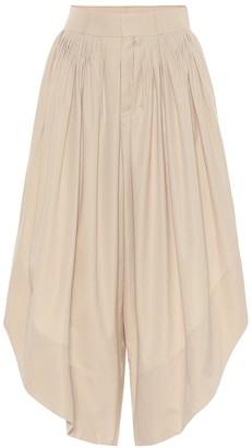 Chloé Cotton-poplin culottes