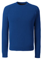 Classic Men's Tall Lambswool Crew Sweater-Dark Bay Blue
