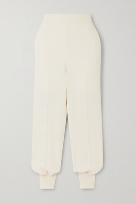 Stella McCartney Net Sustain Stretch-cady Track Pants - Ivory