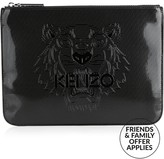 Kenzo Tiger Patent A4 Pouch
