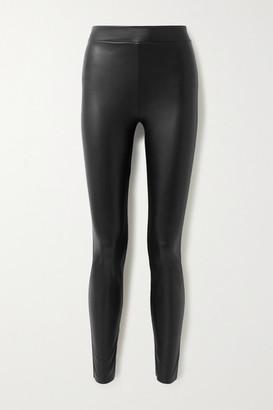 Wolford Estella Faux Stretch-leather Leggings - Black