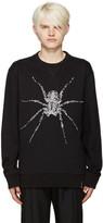 Lanvin Black Beaded Spider Pullover