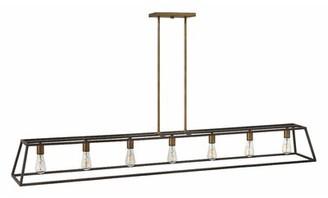 Burley Foundry Select Oak 7 - Light Kitchen Island Linear Pendant Foundry Select Color: Bronze