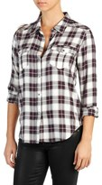 Paige Women's Mya Metallic Plaid Shirt