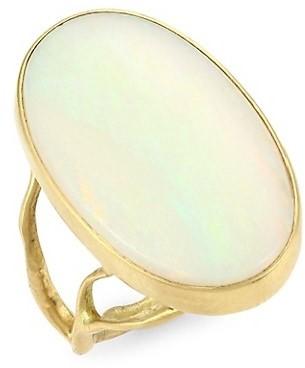 Annette Ferdinandsen Organic 18K Yellow Gold & Opal Branch Ring