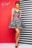 Mac Duggal Evening Gowns - 30329 V Neck Dress In Black Multi