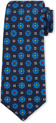 Kiton Men's Alternating Medallions Silk Tie