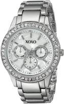 XOXO Women's Tone Bracelet With Rhinestones Accent Watch XO5331