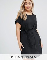 Koko Plus Dress With Cold Shoulder