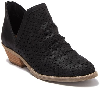 Dolce Vita Perforated Cut Out Ankle Bootie