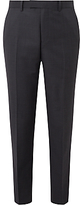 John Lewis Ermenegildo Zegna Super 160s Wool Semi Plain Tailored Suit Trousers, Grey