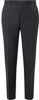John Lewis Ermenegildo Zegna Super 160s Wool Semi Plain Tailored Suit Trousers, Grey