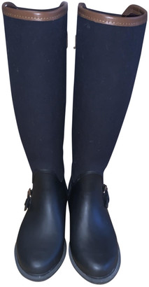 Massimo Dutti Navy Plastic Boots