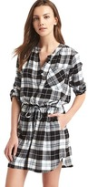 Gap Plaid cinch waist shirtdress