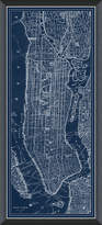 Vintage Print Gallery NYC Navy Map