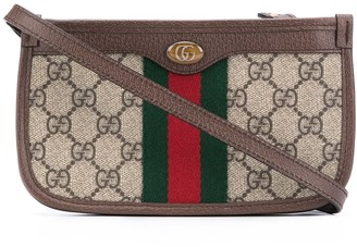 Gucci GG Supreme-canvas Web stripe shoulder bag