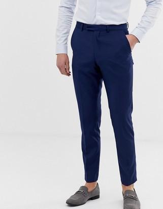 French Connection slim fit plain suit trousers-Blue
