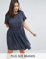Junarose Crochet Lace Insert Prarie Dress