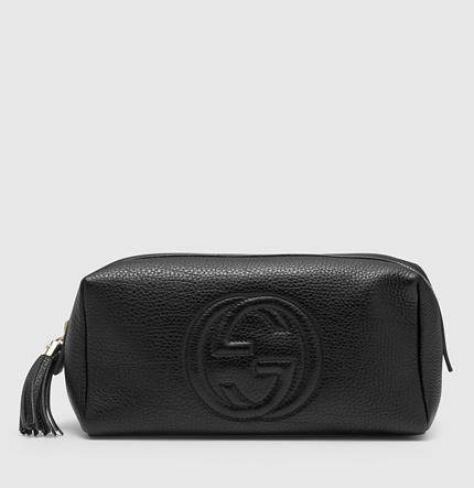 Gucci Soho Large Black Leather Cosmetic Bag