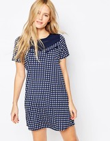 Noisy May Aubrey Western Check Dress