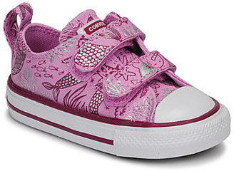 Converse CHUCK TAYLOR ALL STAR 2V UNDERWATER PARTY girls's Shoes (Trainers) in Pink