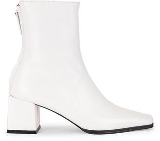 Reike Nen Cube Heel Basic Boots in White | FWRD