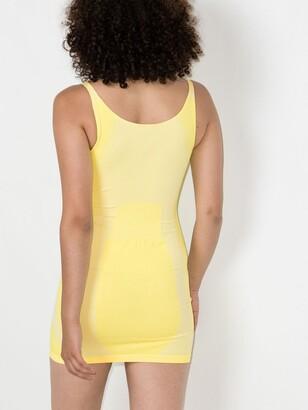 Misbhv Yellow Logo Knit Mini Dress