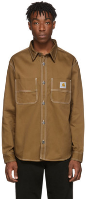 Carhartt Work In Progress Brown Chalk Shirt Jacket
