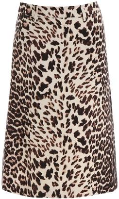 Prada Animal Printed Skirt