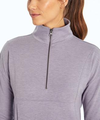 Ash Balance Collection Women's Pullover Sweaters H.PURPLE - Heather Purple Jules Half-Zip Pullover - Women