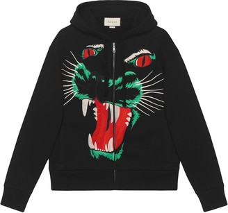 Gucci Panther Face Hoodie