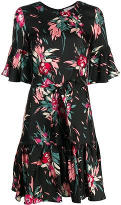 La DoubleJ Floral Print Silk Dress