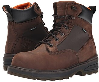 Timberland 6 Resistor Composite Safety Toe Waterproof Boot (Brown) Men's Work Boots