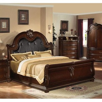 Astoria Grand Crowle King Tufted Low Profile Standard Bed