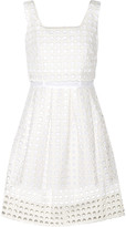 Sea Eyelet-cotton dress