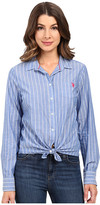 U.S. Polo Assn. Pencil Stripe Long Sleeve Woven Shirt