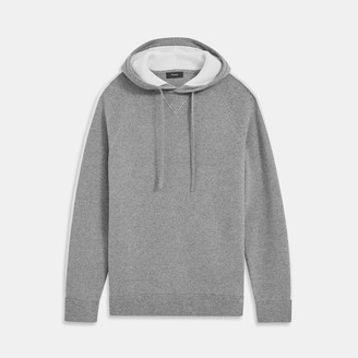 Theory Lounge Hoodie in Striped Wool-Cashmere