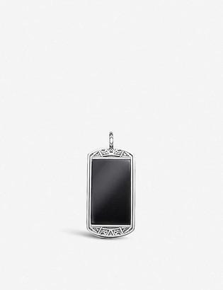 Thomas Sabo Large Arizona Dog Tag sterling-silver and onyx pendant
